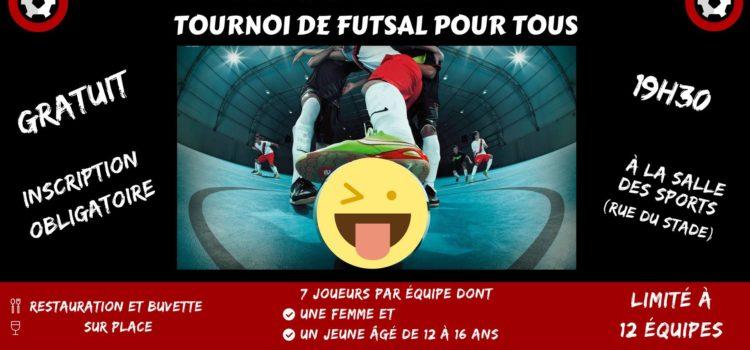 Tournoi de futsal pour tous - Vendredi 2 mars 2018